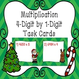 4th Grade Christmas Activity 4 Digit 1 Digit Multiplication Christmas Task Cards