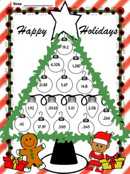 Christmas Multiplication 4th, 5th Grade