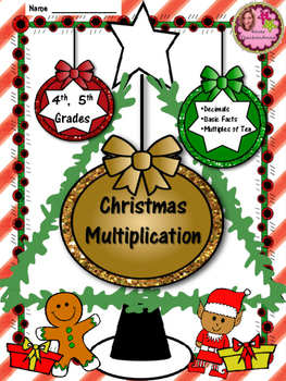 4th, 5th Grade Christmas Multiplication