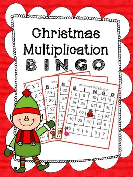 Christmas Multiplication BINGO