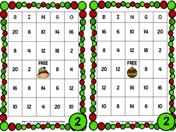 Christmas Multiplication BINGO Freebie