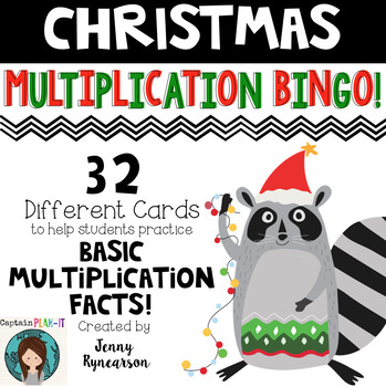Christmas Multiplication BINGO! Practice Basic Facts with some Holiday Cheer! :)
