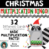 Christmas Multiplication BINGO! Practice Basic Facts with