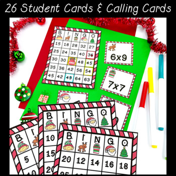 Christmas Multiplication Bingo ~ Class Party Game ~ Grades 3-5