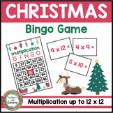 Christmas Multiplication Bingo Game