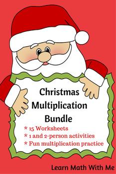 Christmas Multiplication Bundle - 15 Activity Sheets