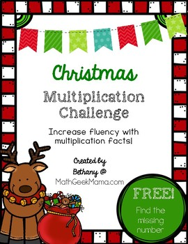 Christmas Multiplication Challenges {Multiplication Facts Practice}