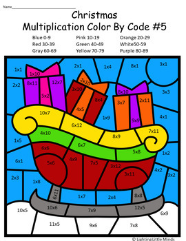 Christmas Multiplication Color By Code