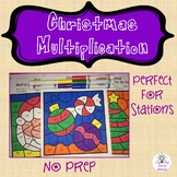 Christmas Multiplication Color By Code Bundle