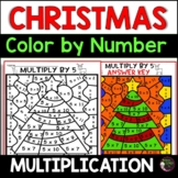 Christmas Multiplication Color by Number- 2's to 12's