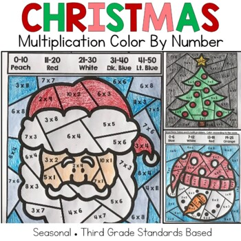 Christmas Multiplication Color by Number Code