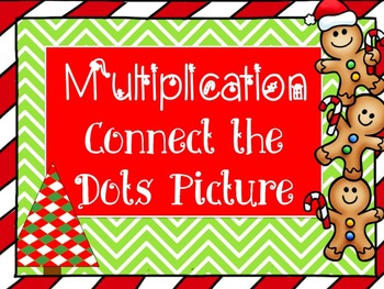 Christmas Multiplication Connect the Dots Mystery Picture