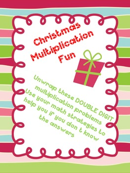 Christmas Multiplication DOUBLE DIGIT Task Cards CCSS aligned