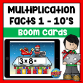 Christmas Multiplication Facts Boom Cards | Distance Learning