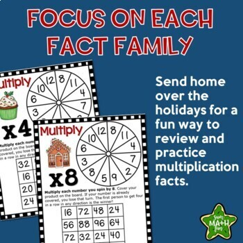 Christmas Multiplication Facts Games (2's to 12's) - Build Fact Fluency!