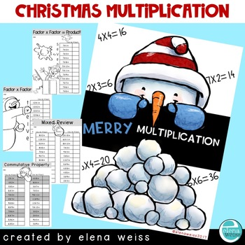 Christmas Multiplication Facts Practice