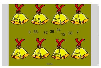 Christmas Multiplication Facts Review