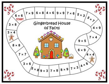 Christmas Multiplication Facts and Holiday Fun - Decorate a Gingerbread House