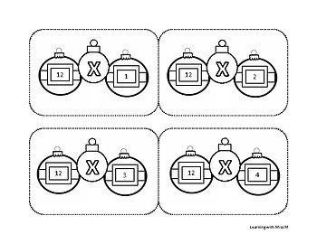 Christmas Multiplication Flash Cards 0-12