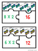 Christmas Multiplication Game Puzzle for 3rd Grade Christmas Math Station