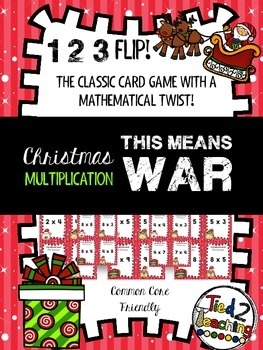 Christmas Multiplication Game (WAR)
