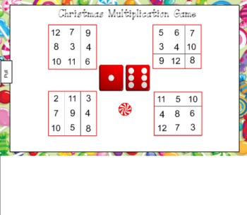 Christmas Multiplication Game for Smart Board