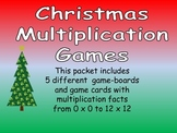 Christmas Multiplication Games- All Facts from 0 x 0 to 12 x 12