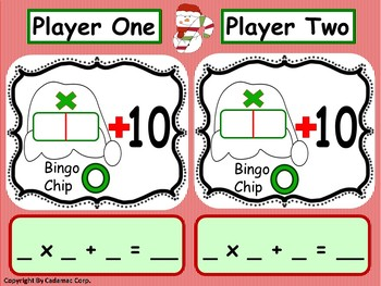 Christmas  Multiplication Games~  Hands-On Fun!