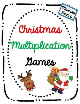 Christmas Multiplication Games {Print and Play}