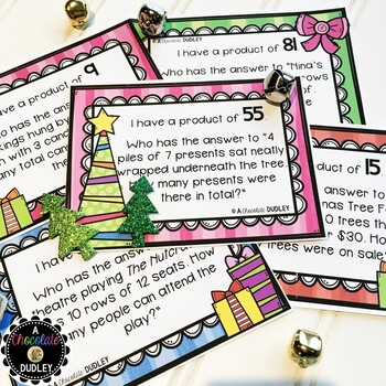"""Christmas Multiplication """"I Have ... Who Has?"""""""