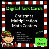 Christmas Activities Multiplication Third Grade Math Centers Digital Task Cards