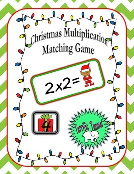 Christmas Multiplication Matching Products Game