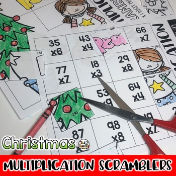 Christmas Multiplication Math Puzzles