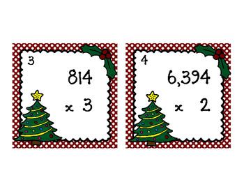 Christmas Multiplication Multi Digit