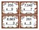 Christmas Multiplication (Multi Digit x 1 Digit) Task Cards