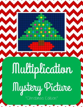 Christmas Multiplication Mystery Picture - Christmas Tree