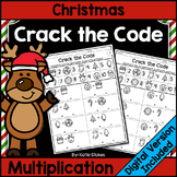 Christmas Multiplication Practice - Crack the Math Code |