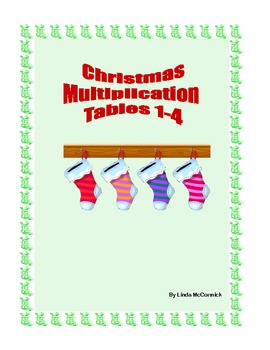 Christmas Multiplication Practice Tables 1-4 Printable Worksheets