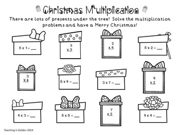 Christmas Multiplication Printables and Math Center