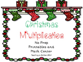 Christmas Multiplication Printables and Math Center