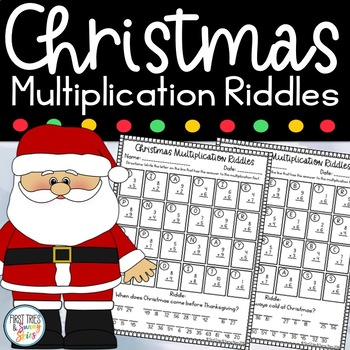 Christmas Multiplication Riddles Worksheets - Holiday Math Facts Riddles