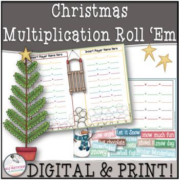 Christmas Multiplication Roll 'Em