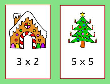Christmas Multiplication Scavenger Hunt - math around the room