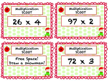Christmas Multiplication Scoot!