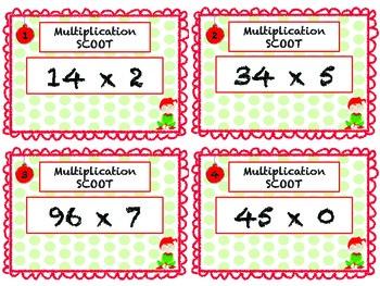 Christmas Multiplication Scoot!
