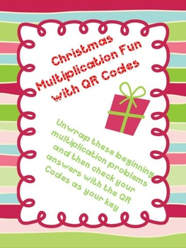 Christmas Multiplication Task Card Practice using QR Codes