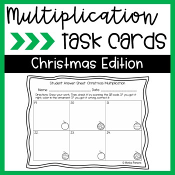 Multiplication Task Cards {Christmas Theme}