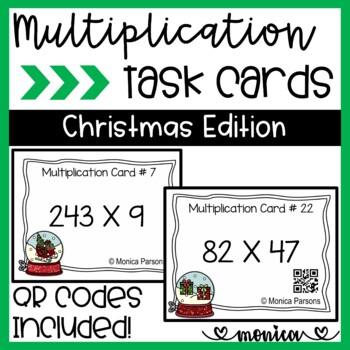 Multiplication Task Cards {Christmas Theme}
