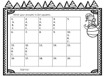 Christmas Multiplication Task Cards (1 digit by 1 digit)