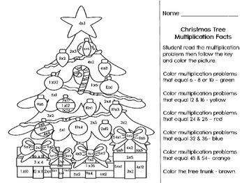 Third/ Fourth Grade - Christmas Multiplication